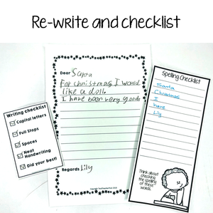re-write and spelling checklist