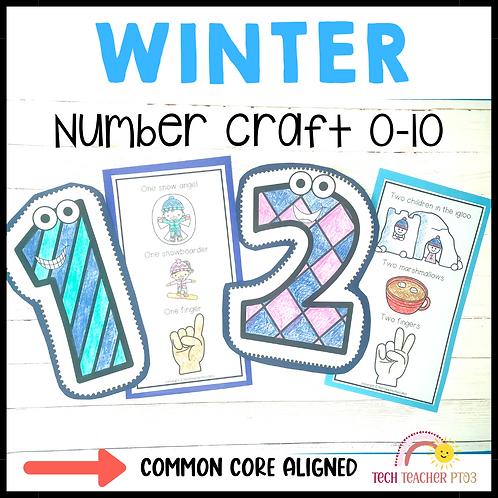 Winter Number Craft Activities