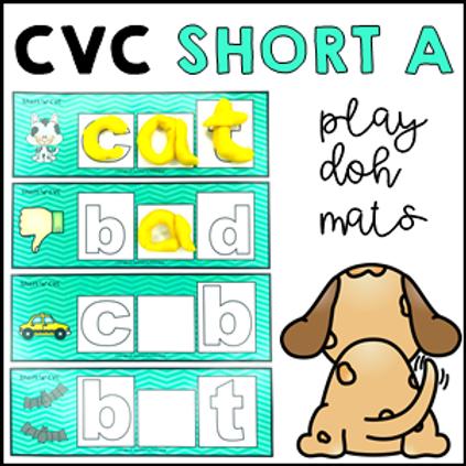 CVC Short A Phonics Sight Word Play Doh/Dough Mats