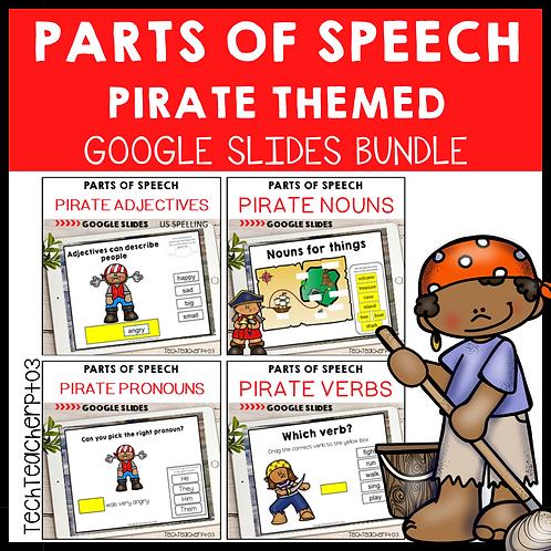 20% OFF Parts of Speech Pirate Bundle Google Slides ™