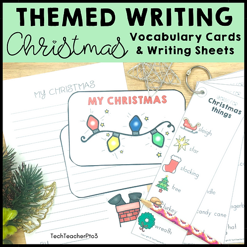 Themed Writing Activity Christmas
