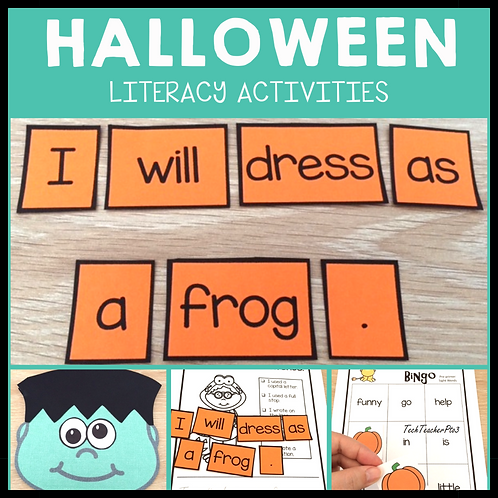 Halloween Craft and Literacy Activities