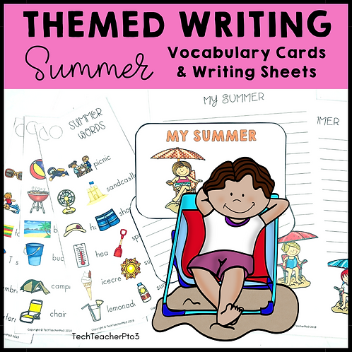 Themed Writing Activity Summer