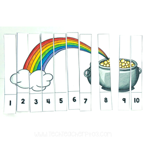 St Patrick's Day free download number sequencing activity cards for teachers and students.