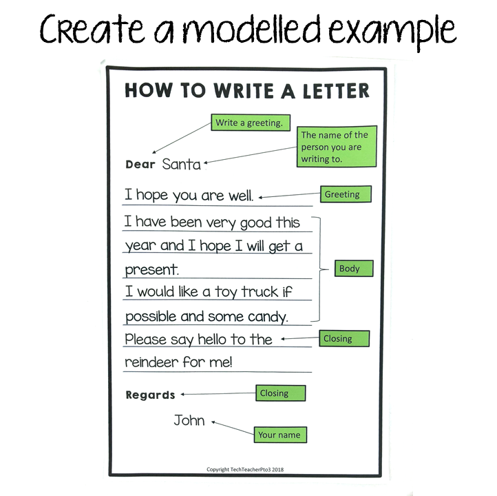 Create a modelled example.