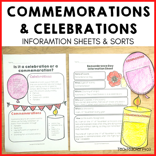 Commemoration or Celebration Sort