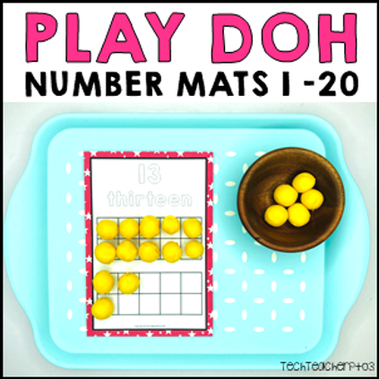Play Dough Number Mats