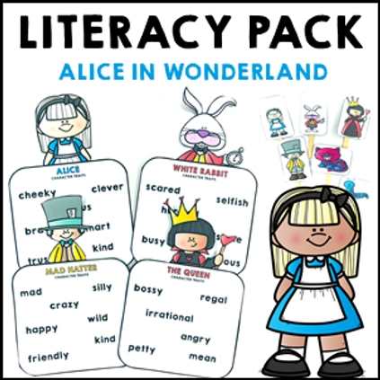 Alice in Wonderland Literacy Activities