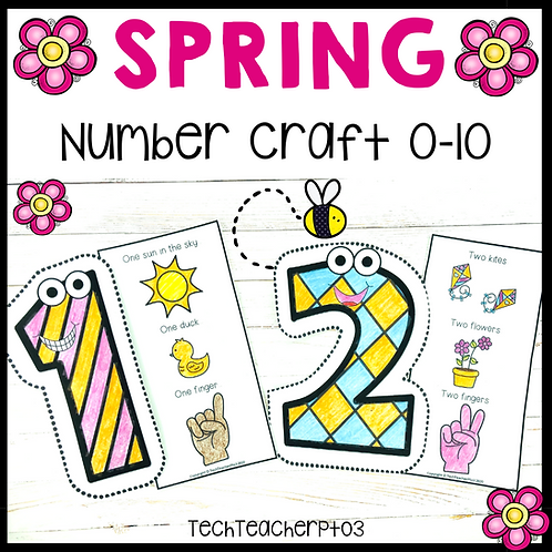 Spring Number Craft Activities