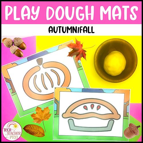 Autumn Fall Play Dough Mats