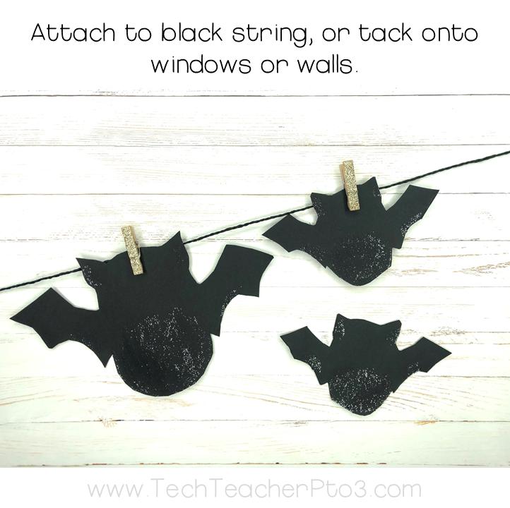 Halloween craft paper bats garland
