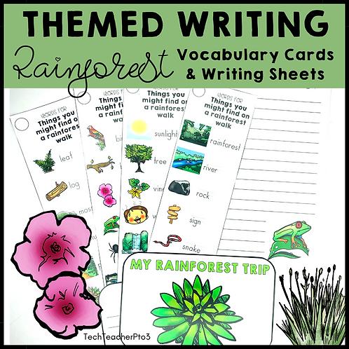 Themed Writing Activity Rainforest
