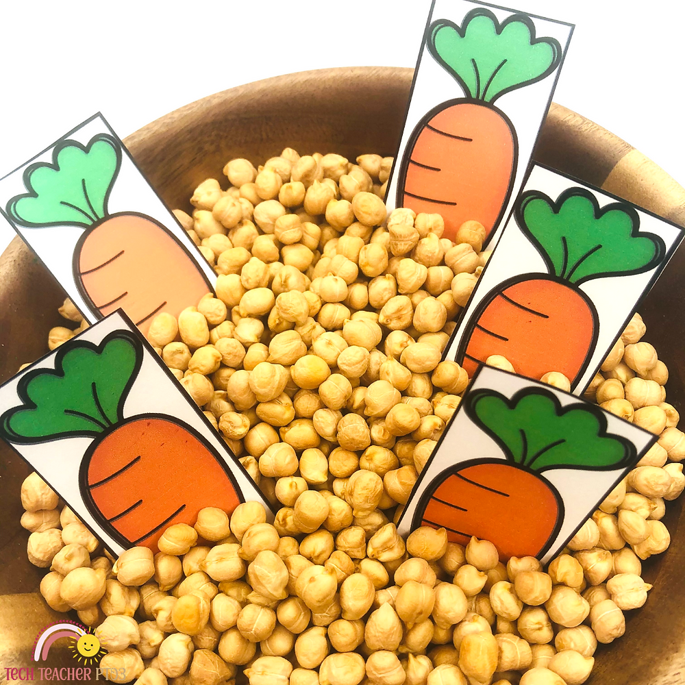 Counting carrots in a maths game for kindergarten free download