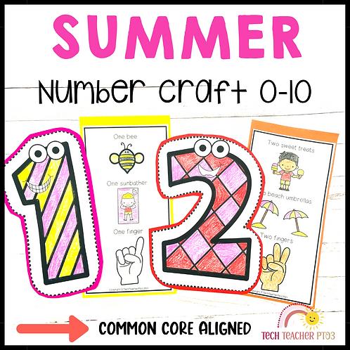 Summer Number Craft Activities