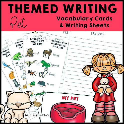 Themed Writing Activity Pet