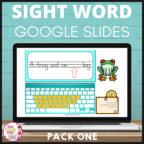 Sight Word Activities for Google Slides Pack One Interactive Distance Learning