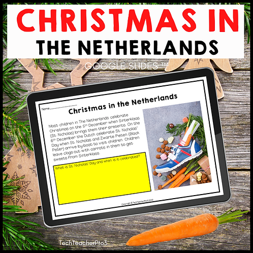 Christmas in the Netherlands Google Slides ™ Holidays Around the World