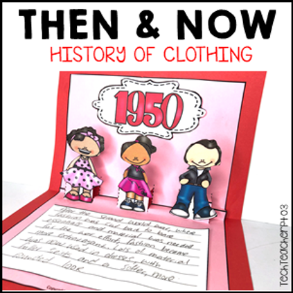Long Ago and Today / Then and Now Social Studies History of Clothing