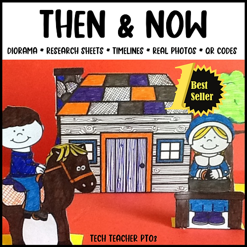 Long Ago and Today / Then and Now Social Studies Activities