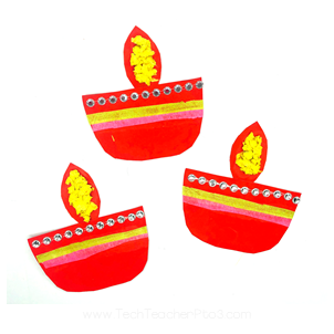Craft ideas for kids for the Festival of Lights. Bring Diwali into your early years classroom.