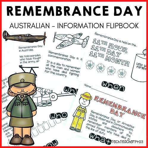 Remembrance Day Flip Book Australia