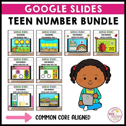 SAVE 30% Teen Number Activities Bundle Google Slides ™