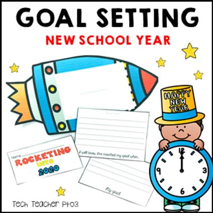 New Year Activity 2020 Goal Setting Flipbook