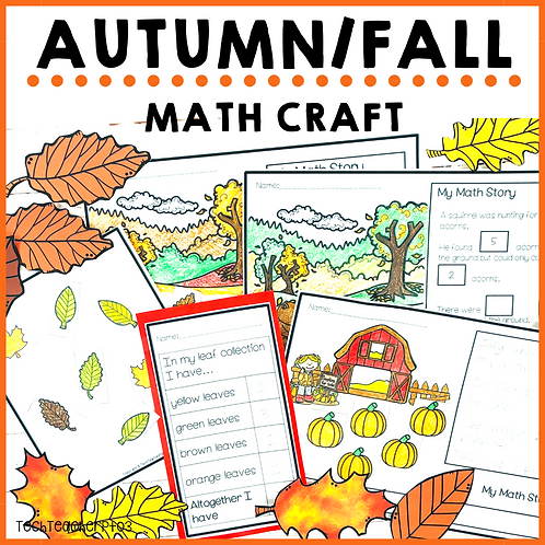 Autumn/Fall Math Craft Activities