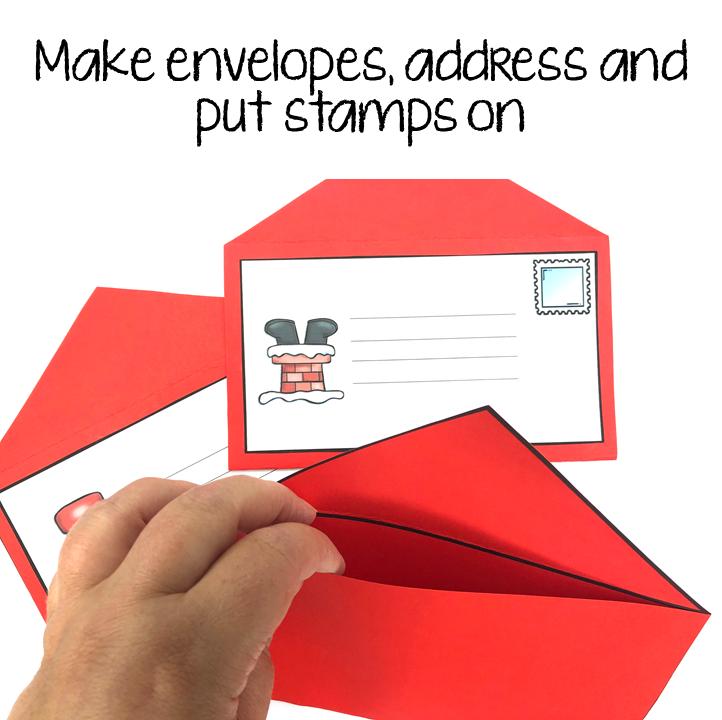 Make envelopes, address and put stamps on