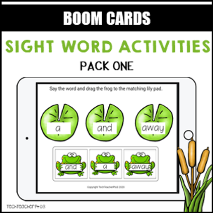 Sight Word Activities Pack One BOOM LEARNING CARDS