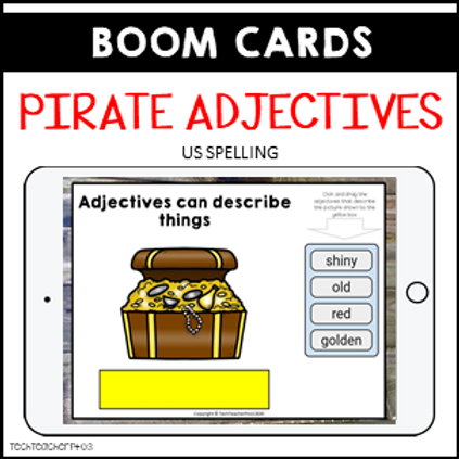 Parts of Speech Pirate Adjectives BOOM LEARNING CARDS Distance Learning US