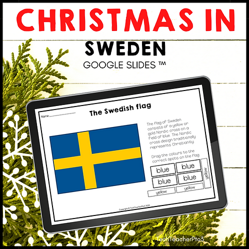 Christmas in Sweden Google Slides ™ Holidays Around the World
