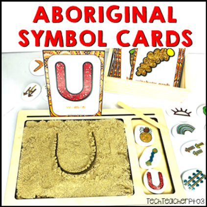 Aboriginal Art Symbol Flash Cards