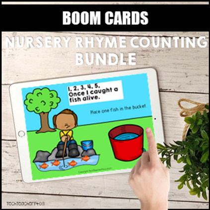 SAVE 20% Nursery Rhyme Counting Bundle BOOM LEARNING CARDS