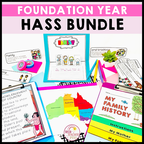 SAVE 20% Foundation Year HASS Bundle: Geography & History