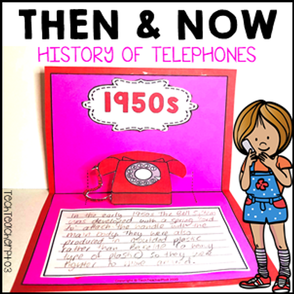 Long Ago and Today Then Now Social Studies Activities History of Telephones