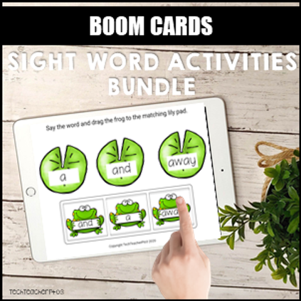 SAVE 20% Sight Word Activities Bundle BOOM LEARNING CARDS
