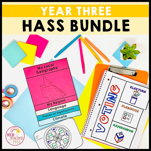 SAVE 20% Year 3 HASS Bundle: Geography, History & Civics