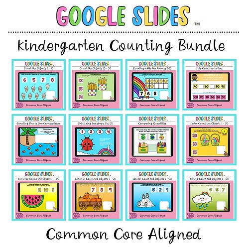 SAVE 30% Kindergarten Counting Activities Bundle Google Slides ™
