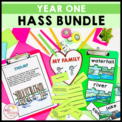SAVE 20% Year 1 HASS Bundle: Geography & History