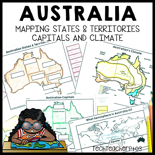 Australia Mapping Activity States Territories and Capitals