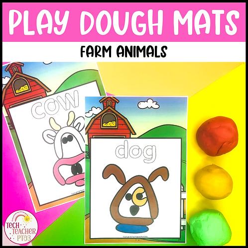 Farm Animal Play Dough Mats Activities