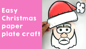 Easy Christmas paper plate craft you can do with your students today!