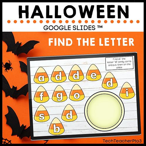 Halloween Find the Letter Google Slides ™ Alphabet A-Z