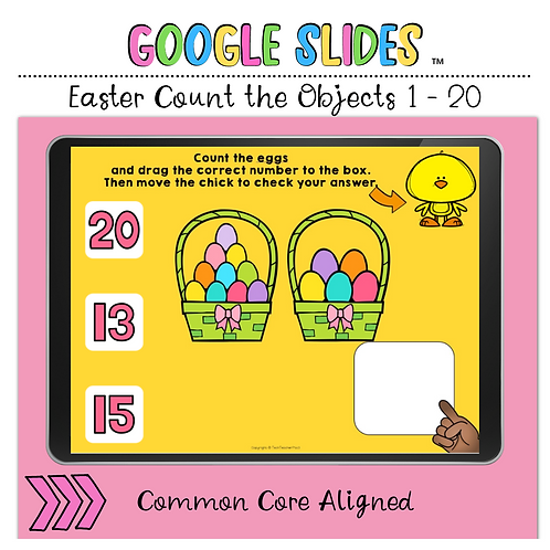 Easter Count the Number 1 to 20 Google Slides™ Activity