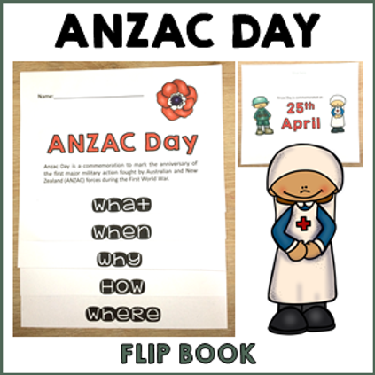 ANZAC Day Flip Book Activity