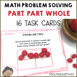 Teaching math problem solving part part whole to first grade students.