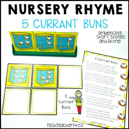 5 Currant Buns Nursery Rhyme Activities