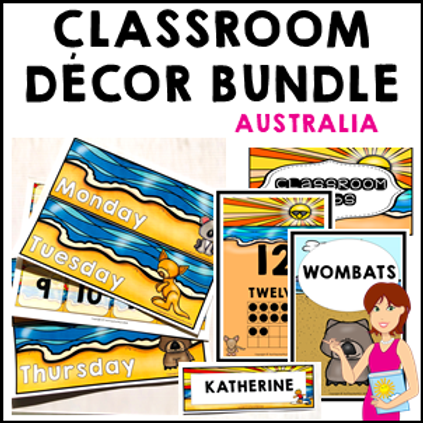 Australia Classroom Decor Theme Bundle