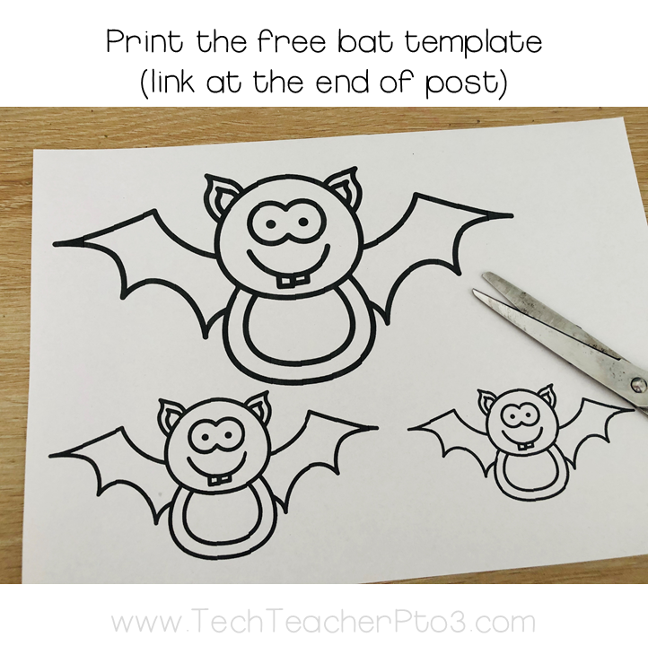 Halloween craft paper bats garland download now for free